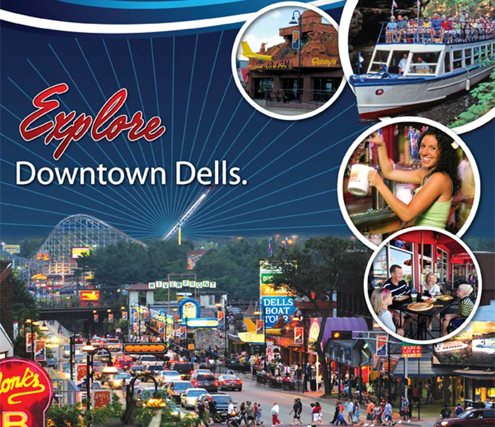 "Downtown Wisconsin Dells - the Famed ""Strip"""